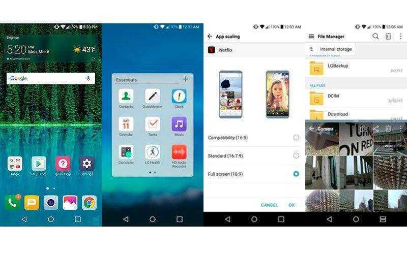 Программы в OnePlus 5 и LG G6