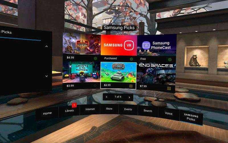 Samsung Gear VR 2017 приложения