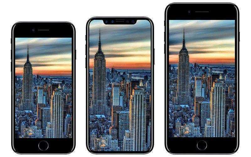 Сравнение IPhone X с IPhone 8 с IPhone 8 Plus