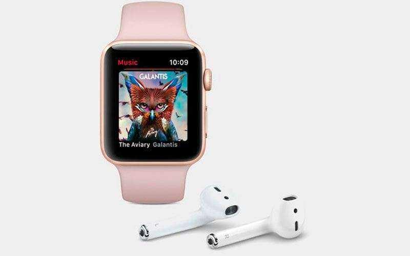 Apple Watch 3 музыка