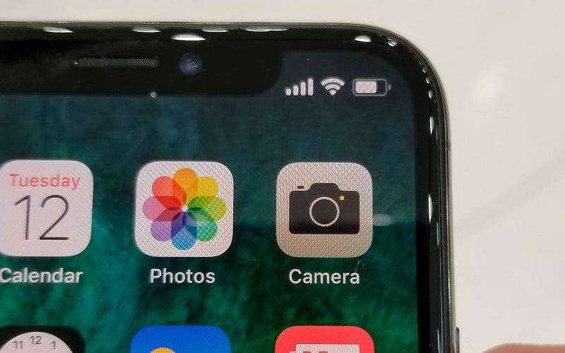 Санер лица iPhone X