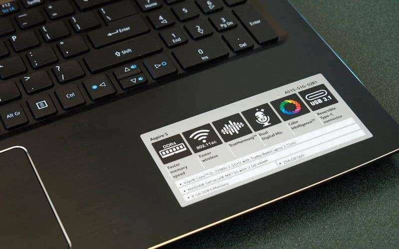 ПО в Acer Aspire 5