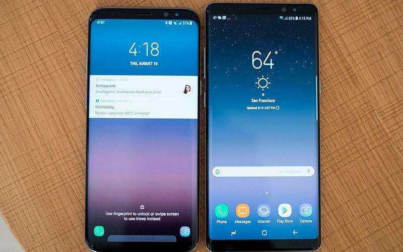 Батареи Galaxy Note 8 и Galaxy S8+