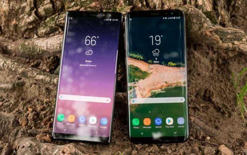 Экран Samsung Galaxy Note 8 vs Galaxy S8+