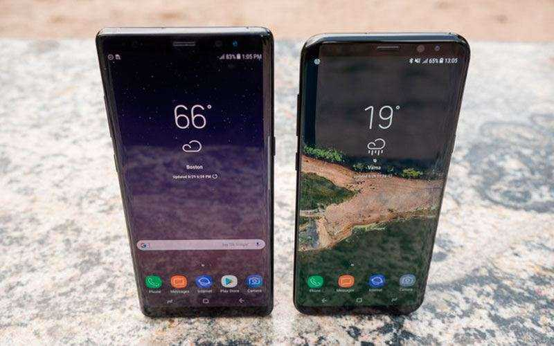 Производительность Samsung Galaxy Note 8 vs Samsung Galaxy S8+