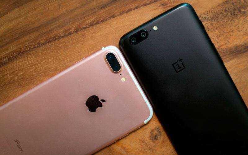 Камеры Apple iPhone 8 Plus и OnePlus 5