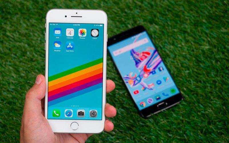 Экраны Apple iPhone 8 Plus и OnePlus 5