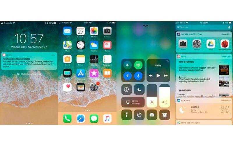 Интерфейс Apple iPhone 8 Plus
