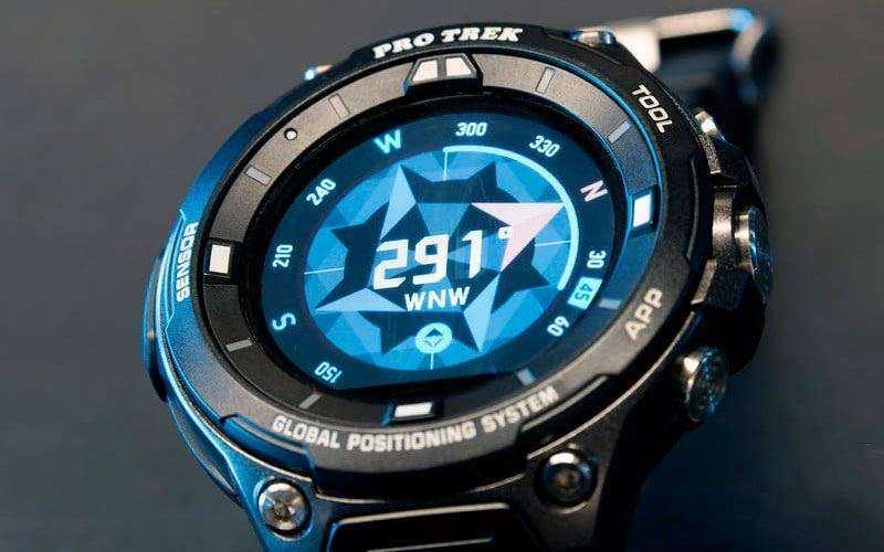 Отслеживание действий Casio Pro Trek Smart WSD-F20