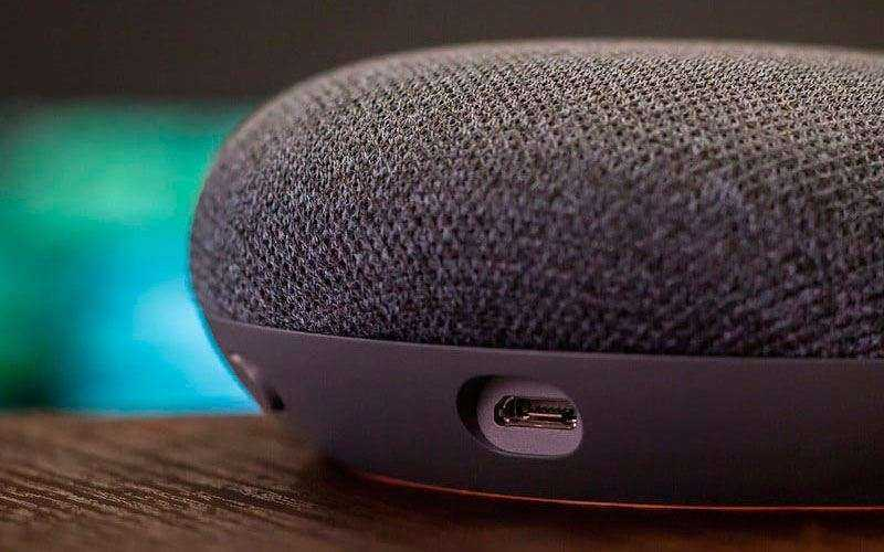 Дизайн Google Home Mini