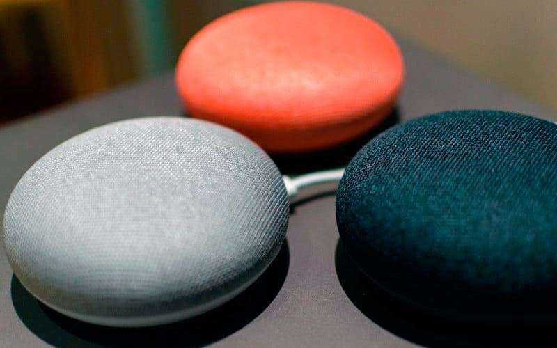 Google Home Mini расцветки