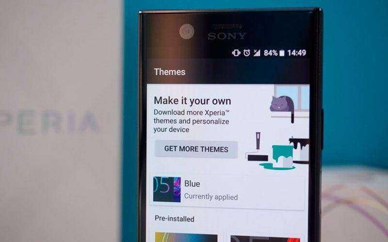 Интерфейс Sony Xperia XZ1 Compact