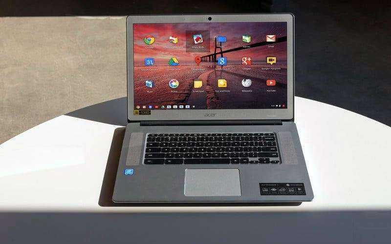 Дизайн Acer Chromebook 15 2017