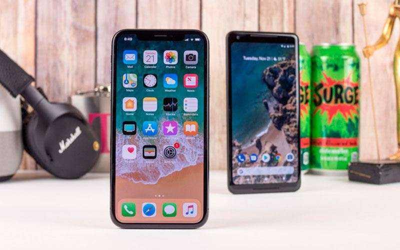 Дизайн Apple iPhone X и Google Pixel 2 XL