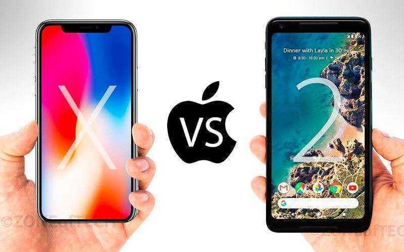 Apple iPhone X vs Google Pixel 2 XL — Сравнение широкоформатных смартфонов 2017