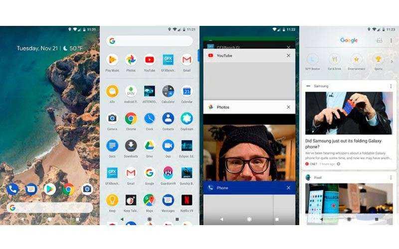 Интерфейс Google Pixel 2 XL