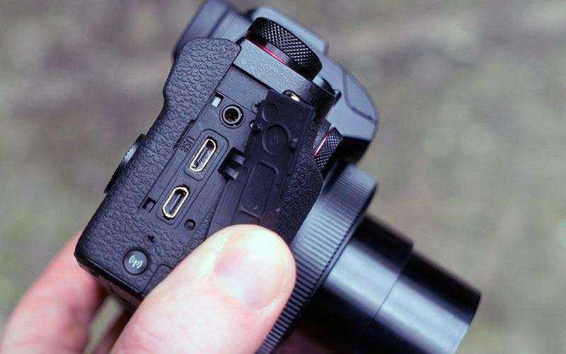 Разъёмы Canon G1X Mark III и порты