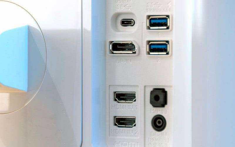 Порты LG 32UD99-W и разъёмы