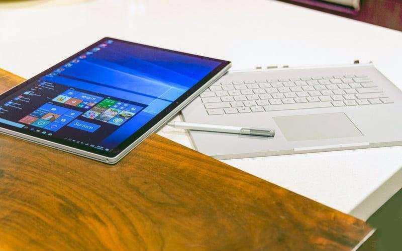 Дизайн Microsoft Surface Book 2