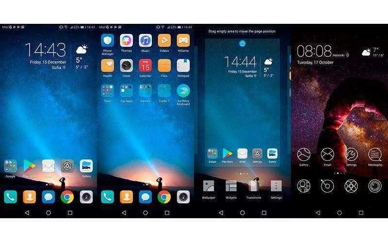 Интерфейс Huawei Mate 10 Lite