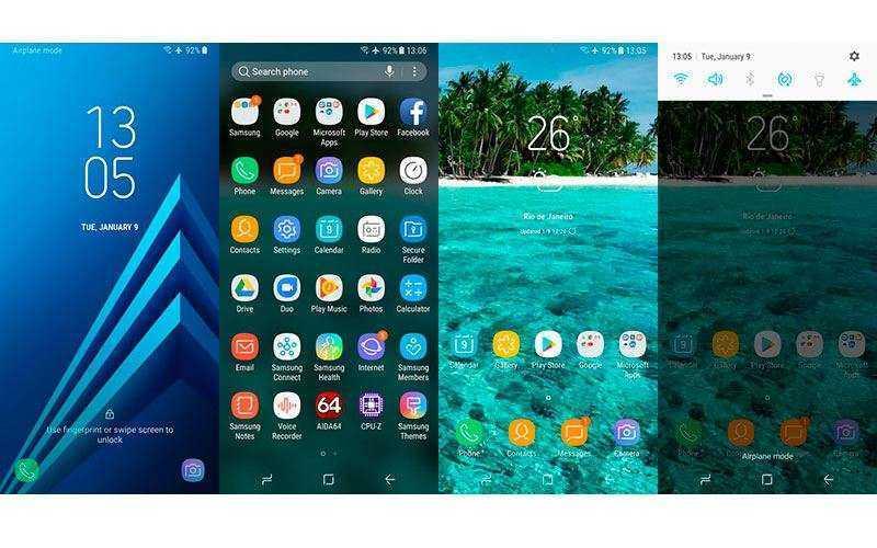 ОС Samsung Galaxy A8 2018