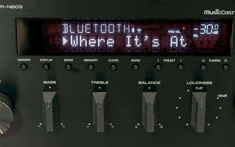 Настройка Yamaha R-N803