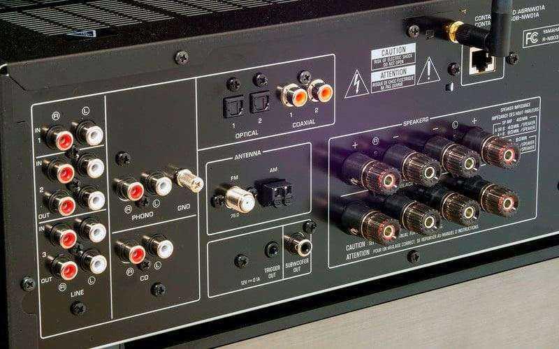 Разъёмы Yamaha R-N803