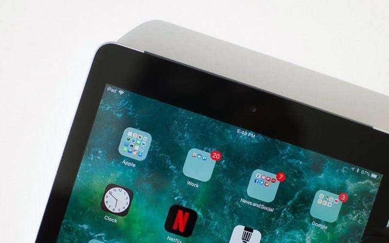 Итерфейс Apple iPad (2018)