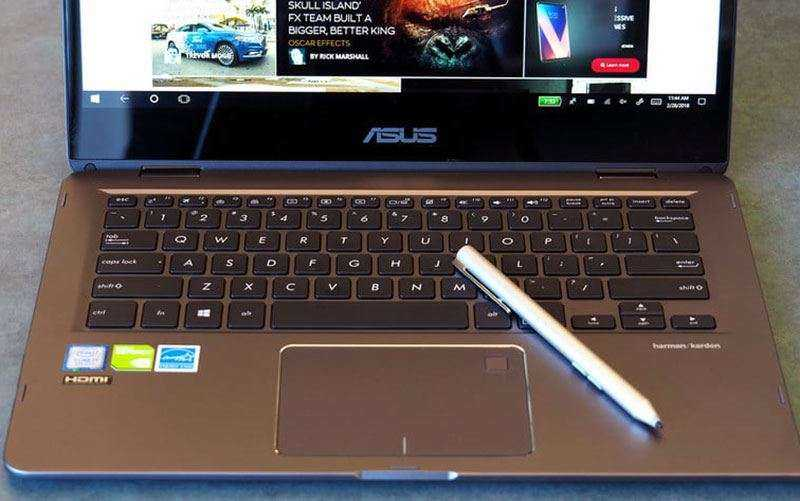 Клавиатура Asus ZenBook Flip 14 стилус и тачпад