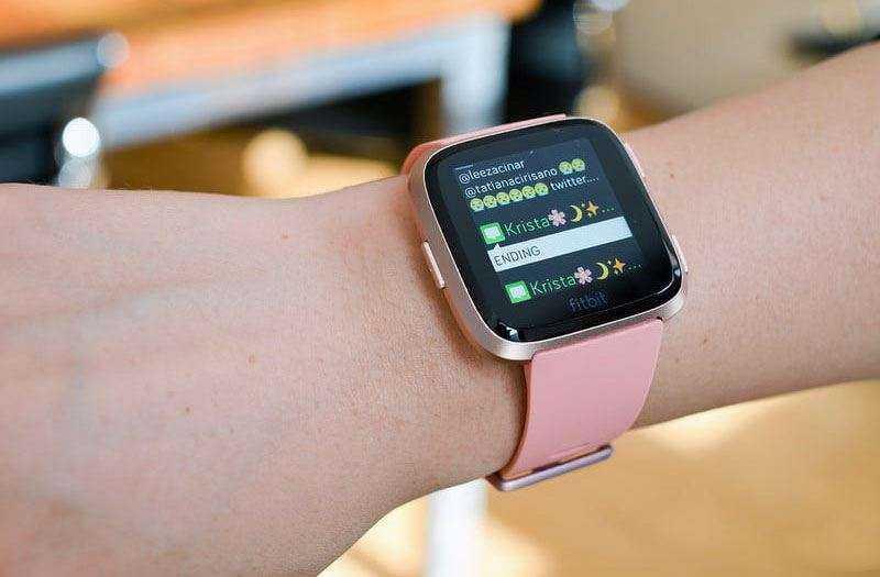 Уведомления Fitbit Versa