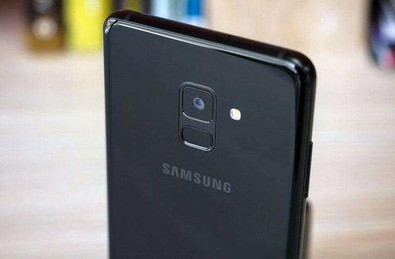 Сканер отпечатка Samsung Galaxy A8 Plus