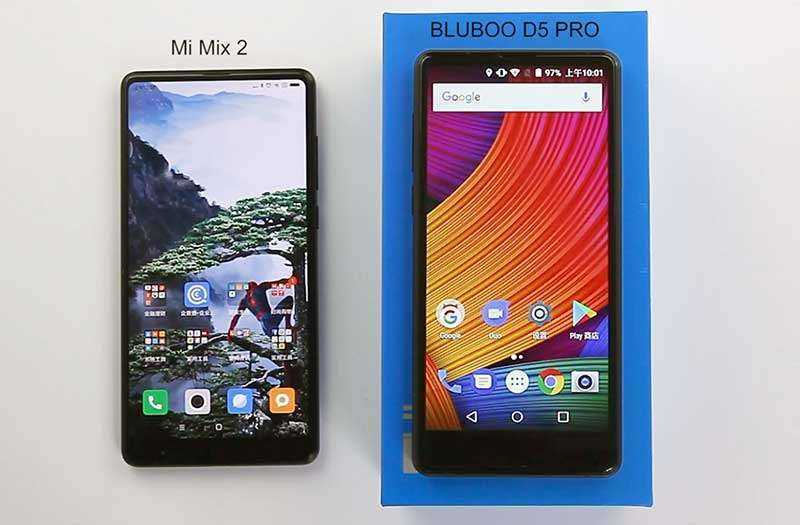 Обзор Bluboo D5 Pro: бюджетный клон Xiaomi Mix
