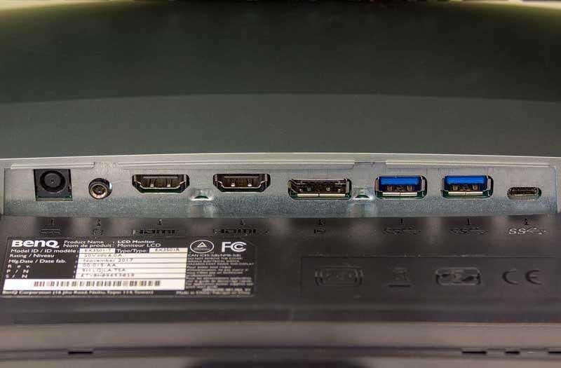 Порты BenQ EX3501R