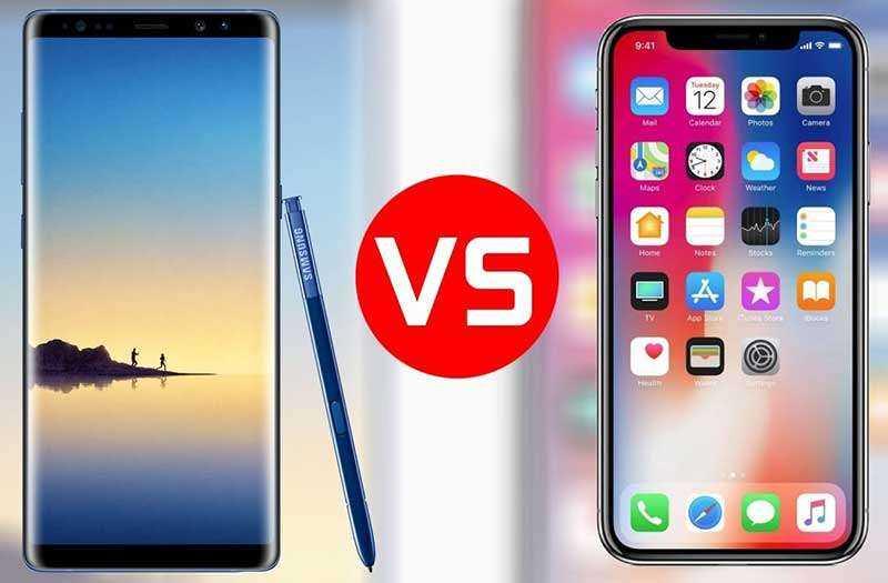 Сравнение Samsung Galaxy Note 9 vs Apple iPhone X: битва за 1000$