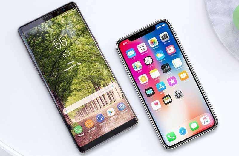 Призводительность Samsung Galaxy Note 9 и Apple iPhone X