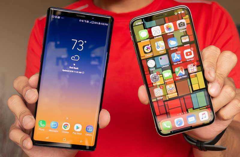 Дисплеи в Samsung Galaxy Note 9 и Apple iPhone X