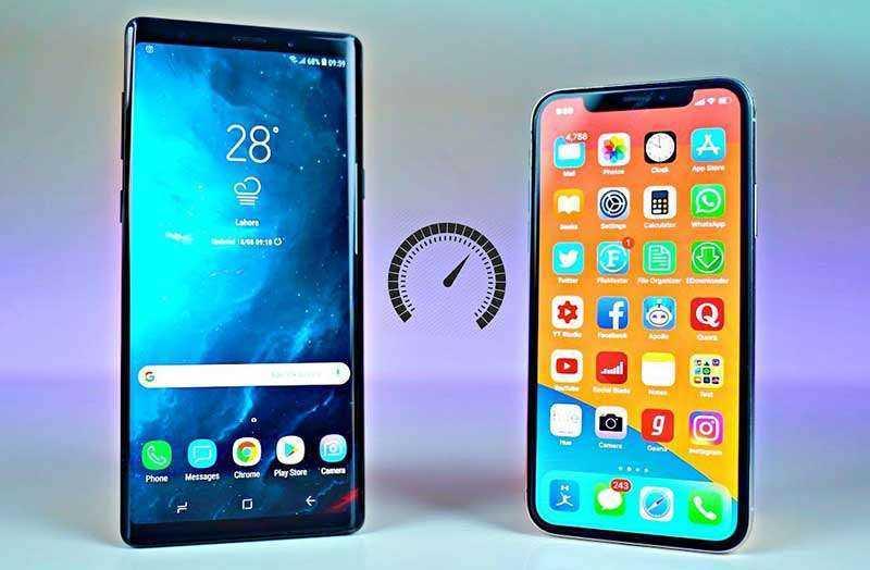 Сравнение батареи Samsung Galaxy Note 9 и Apple iPhone X