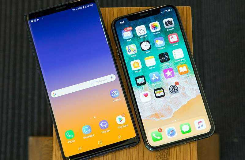 Тест Samsung Galaxy Note 9 и Apple iPhone X