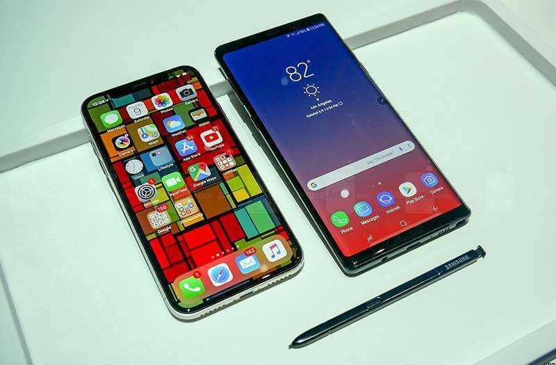 Мультимедиа в Samsung Galaxy Note 9 и Apple iPhone X