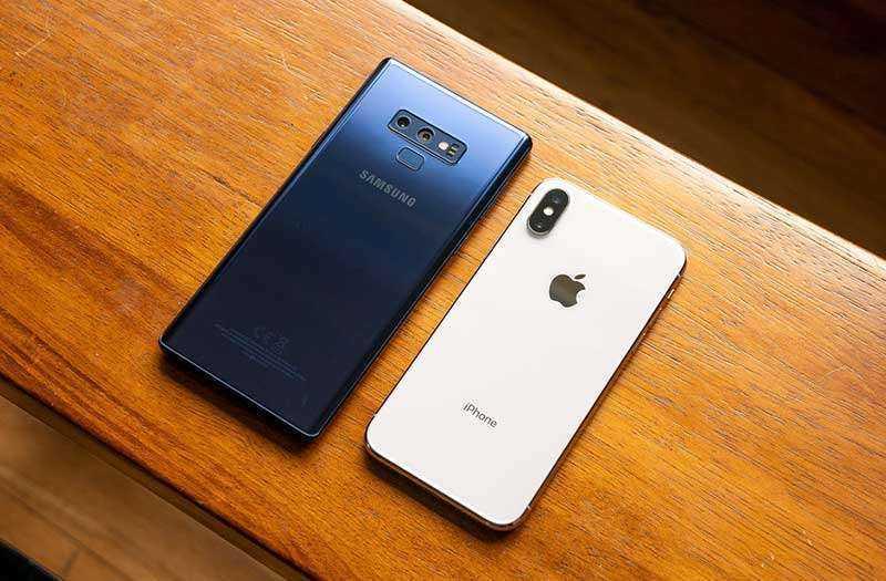 Samsung Galaxy Note 9 и Apple iPhone X