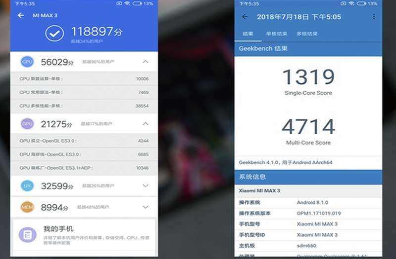 Тест Xiaomi Max 3