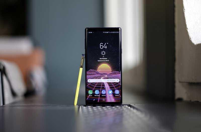 Samsung Galaxy Note 9 конструкция