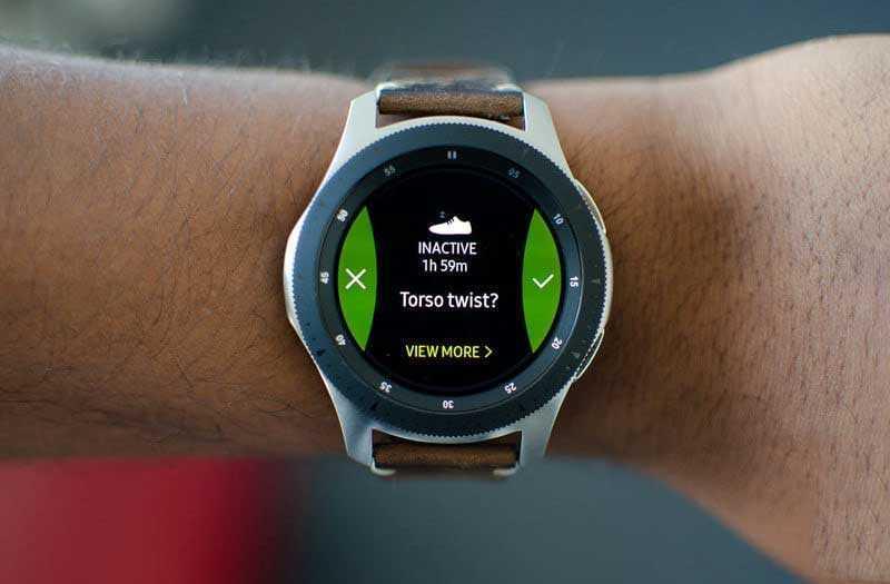 Упражнения на Samsung Galaxy Watch