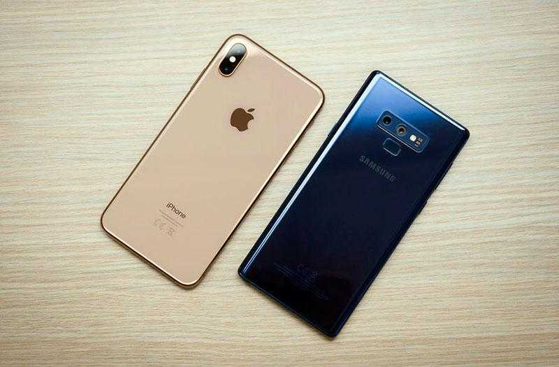 Samsung Galaxy Note 9 vs Apple iPhone XS Max
