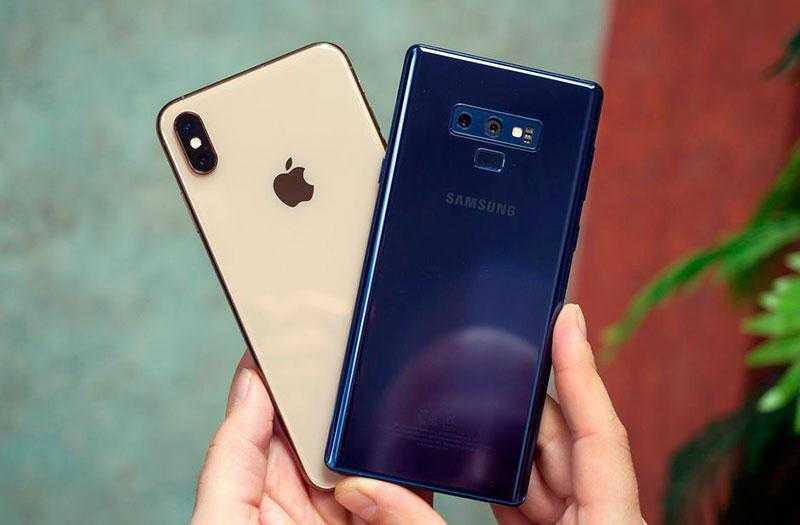 Звук динамиков Galaxy Note 9 и iPhone XS Max