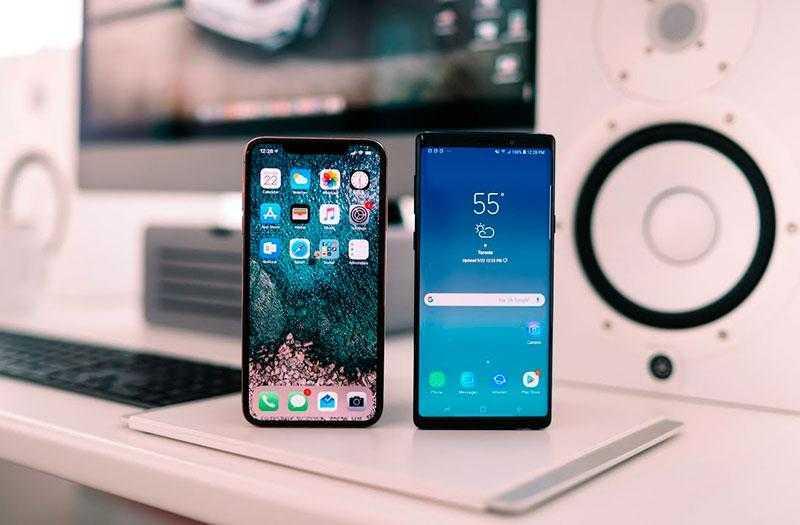 Автономность батареи Samsung Galaxy Note 9 и Apple iPhone XS Max