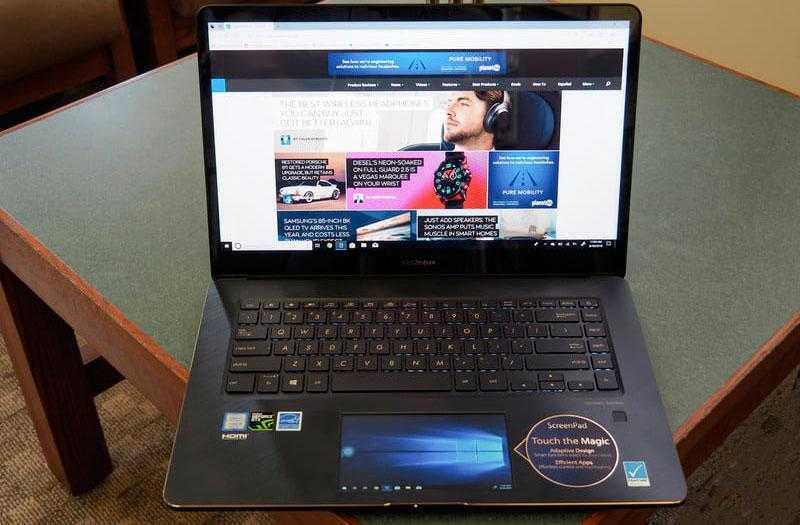 ScreenPad в Asus ZenBook Pro 15 UX580