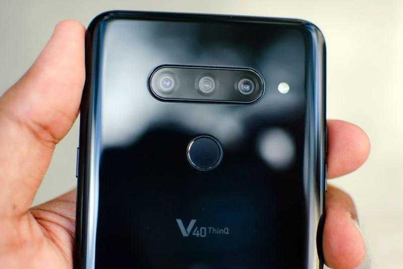 LG V40 ThinQ камеры