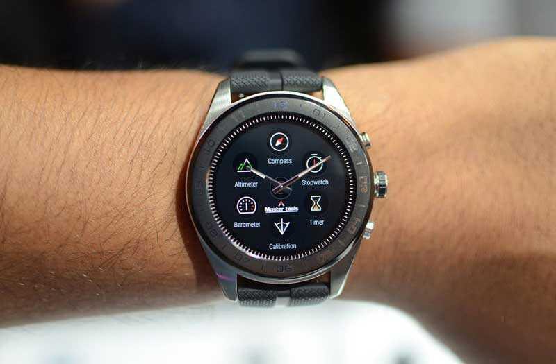 Меню LG Watch W7