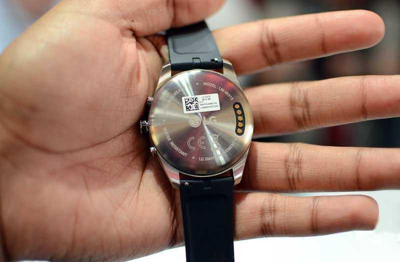 LG Watch W7 сзади